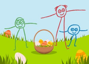 Easter party with egg hunt